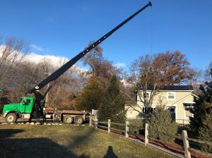 Crane Rental services for contractors, tree services and HVAC contractors in Oakland County, Michigan